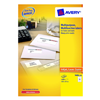 Avery Multifunction and Copier Labels 105x37mm 16 Labels Per Sheet 100 Per Pack